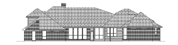 Traditional House Plan 88697 Rear Elevation