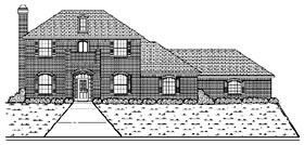 Traditional House Plan 88698 Elevation