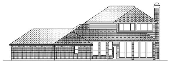 Traditional House Plan 88698 Rear Elevation
