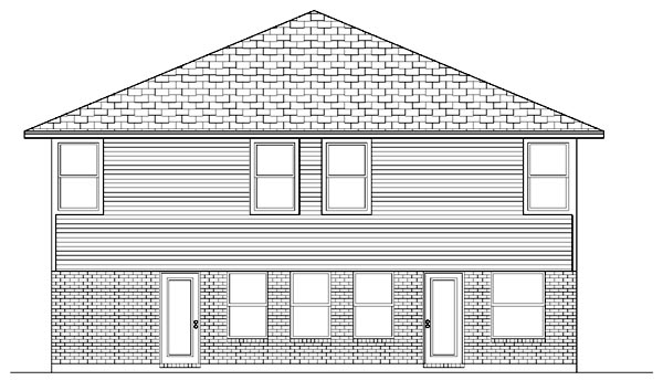 Traditional House Plan 88699 Rear Elevation