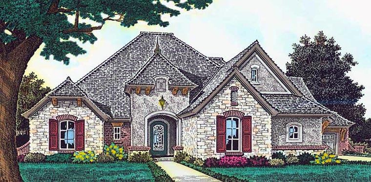 Country European French Country House Plan 89403 Elevation