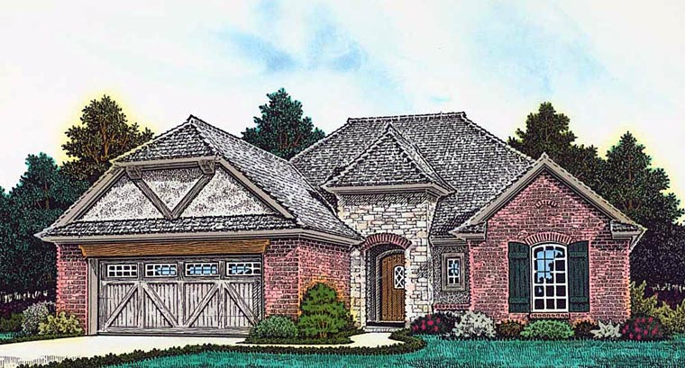 Country French Country Tudor House Plan 89404 Elevation