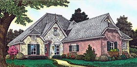 Country , French Country House Plan 89405 with 4 Beds, 4 Baths, 3 Car Garage Elevation