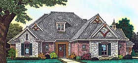 European French Country Tudor House Plan 89407 Elevation