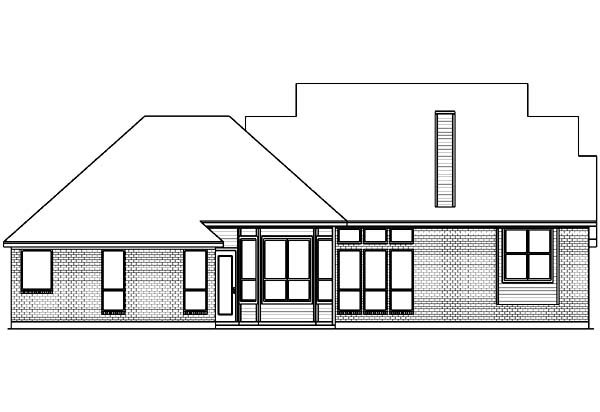 Country House Plan 89802 Rear Elevation