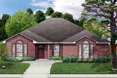 European House Plan 89803 Elevation