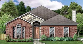 House Plan 89804 | Traditional Style Plan with 2036 Sq Ft, 3 Bedrooms, 2 Bathrooms, 2 Car Garage Elevation