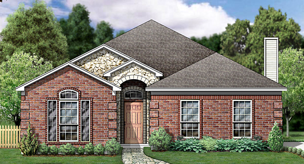 Traditional House Plan 89804 Elevation