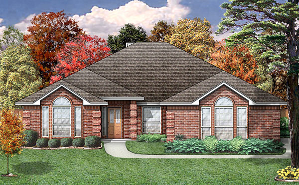 European Traditional House Plan 89806 Elevation