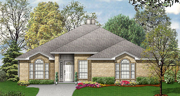 Traditional House Plan 89807 Elevation
