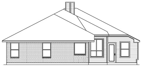 Traditional House Plan 89807 Rear Elevation