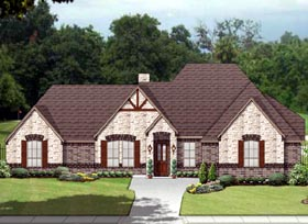 House Plan 89809 | European Traditional Tudor Style Plan with 3029 Sq Ft, 4 Bedrooms, 3 Bathrooms, 3 Car Garage Elevation