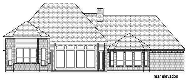 European Traditional Tudor House Plan 89809 Rear Elevation