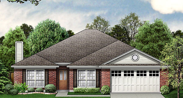 Traditional House Plan 89810 Elevation