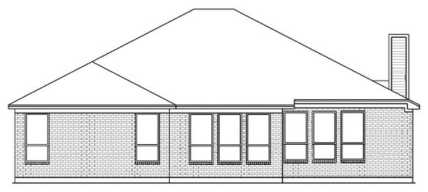 Traditional House Plan 89810 Rear Elevation