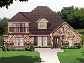 Traditional House Plan 89811 with 3 Beds, 3 Baths, 2 Car Garage Elevation