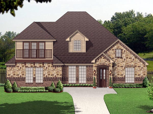 Traditional , Elevation of Plan 89811