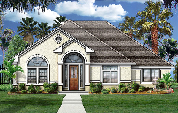 Colonial European Mediterranean House Plan 89813 Elevation