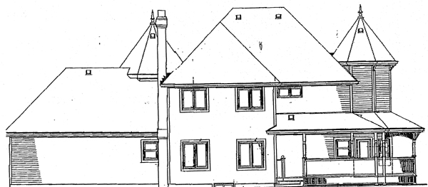 Colonial European House Plan 89816 Rear Elevation