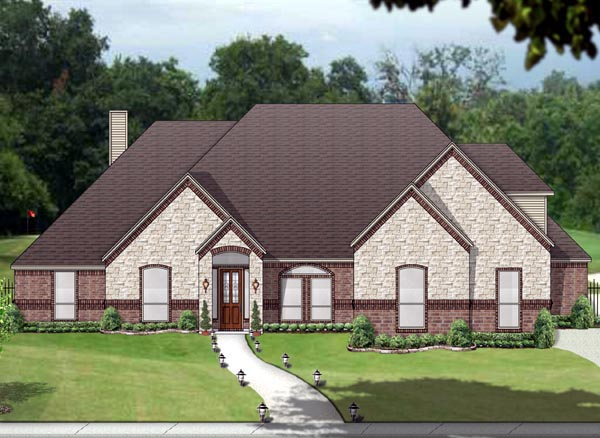 Traditional House Plan 89822 with 3 Beds, 3 Baths, 3 Car Garage Elevation