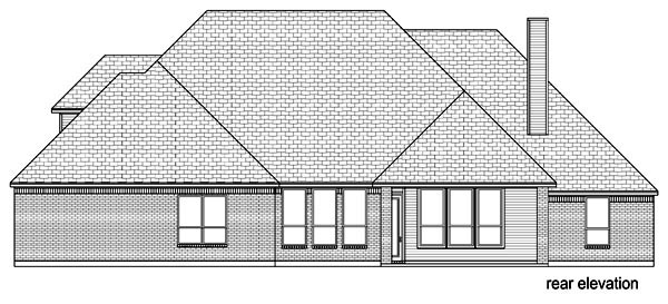 Traditional House Plan 89822 with 3 Beds, 3 Baths, 3 Car Garage Rear Elevation