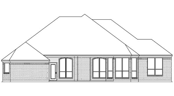 European House Plan 89823 Rear Elevation