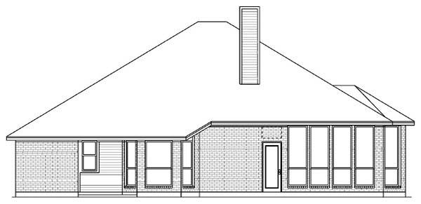 European House Plan 89824 Rear Elevation