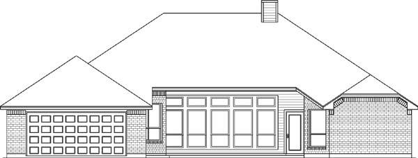 European House Plan 89826 Rear Elevation