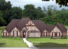 Traditional , European House Plan 89829 with 4 Beds, 3 Baths, 3 Car Garage Elevation