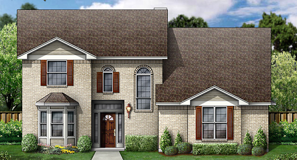 European House Plan 89832 with 5 Beds, 4 Baths, 2 Car Garage Front Elevation