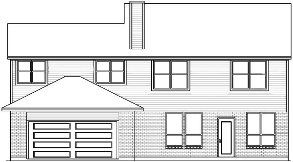 European House Plan 89832 Rear Elevation