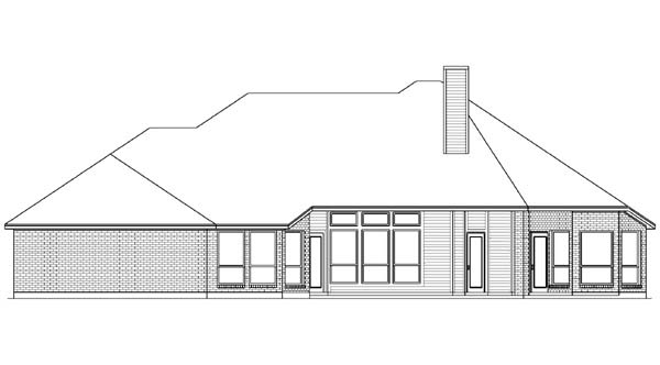 European House Plan 89833 Rear Elevation