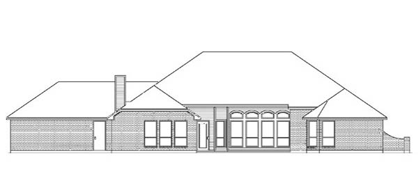 European House Plan 89835 Rear Elevation
