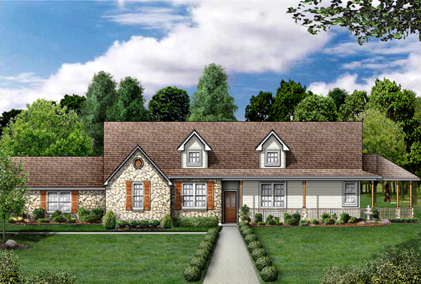 Country House Plan 89837 Elevation