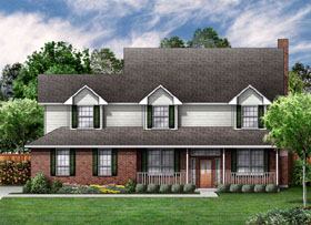 Country House Plan 89838 Elevation