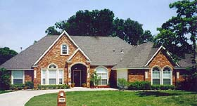 European House Plan 89841 with 5 Beds, 3 Baths, 2 Car Garage Elevation