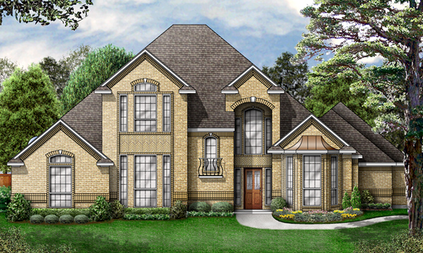 European Victorian House Plan 89844 Elevation