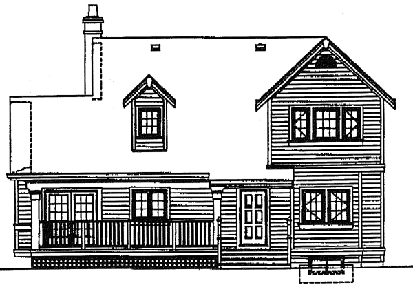European Victorian House Plan 89844 Rear Elevation
