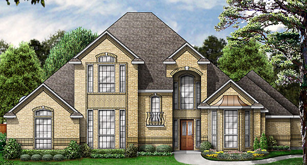 House Plan 89845 | European Victorian Style Plan with 2694 Sq Ft, 3 Bedrooms, 3 Bathrooms, 3 Car Garage Elevation