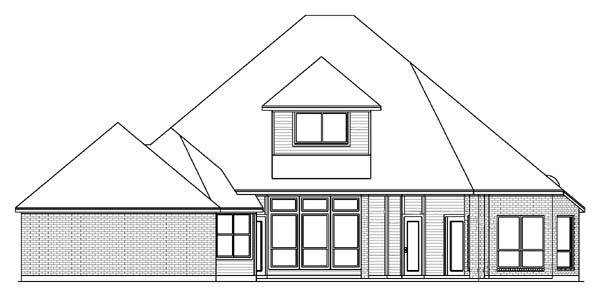 House Plan 89845 | European Victorian Style Plan with 2694 Sq Ft, 3 Bedrooms, 3 Bathrooms, 3 Car Garage Rear Elevation