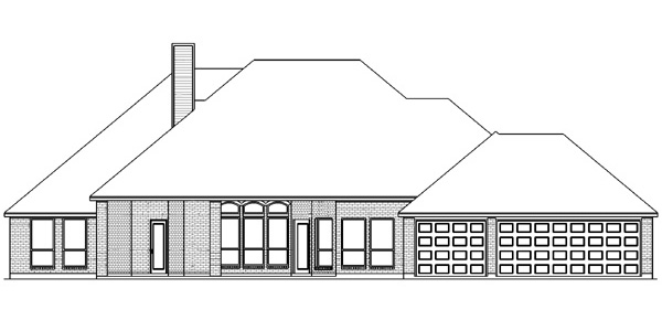 European House Plan 89848 Rear Elevation