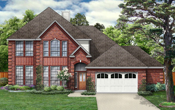 European Traditional House Plan 89850 Elevation