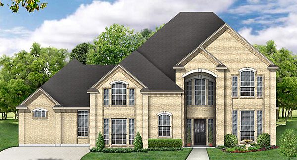 House Plan 89852 | Traditional Style Plan with 2745 Sq Ft, 4 Bedrooms, 3 Bathrooms, 2 Car Garage Elevation