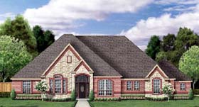 European Victorian House Plan 89855 Elevation