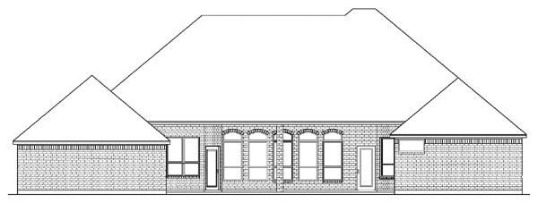 European Victorian House Plan 89855 Rear Elevation