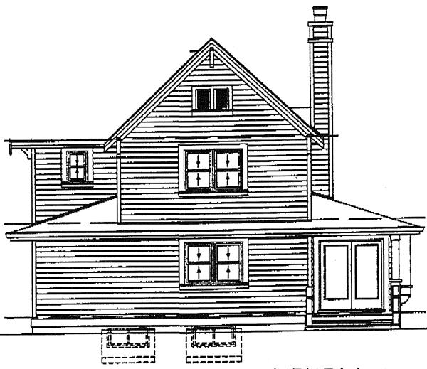 European House Plan 89856 Rear Elevation