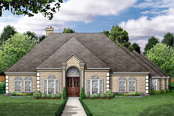 House Plan 89858 | Colonial European Style Plan with 2894 Sq Ft, 4 Bedrooms, 3 Bathrooms, 3 Car Garage Elevation