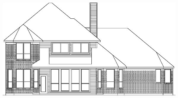 European Traditional House Plan 89859 Rear Elevation