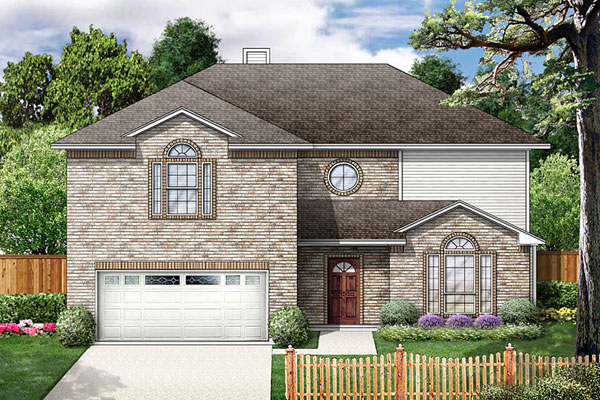 Traditional House Plan 89862 with 6 Beds, 3 Baths, 2 Car Garage Elevation