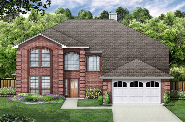 European, Traditional House Plan 89864 with 5 Beds, 4 Baths, 2 Car Garage Front Elevation